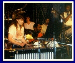 Kathy Kelly with Billy Cobham at the Montreux Jazz Festival Switzerland, 1981